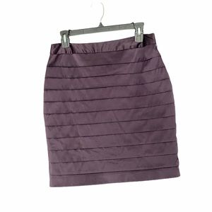 Forever 21 layered tiered straight satin skirt